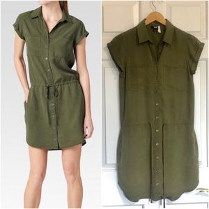 💜 PAIGE Mila shirtdress in desert olive